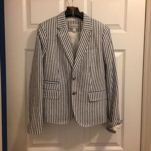 Jcrew stripe blazer sz 4